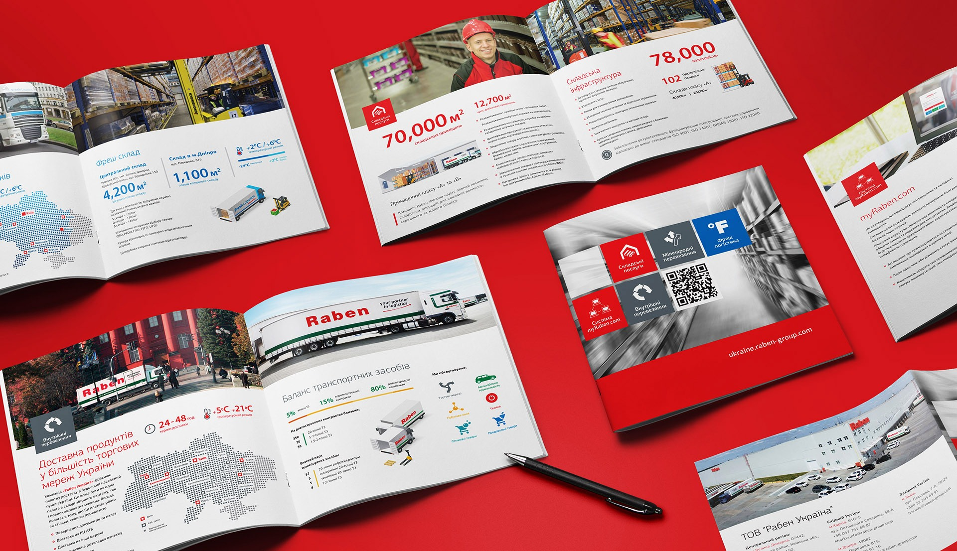Raben logistic presentation catalogue design