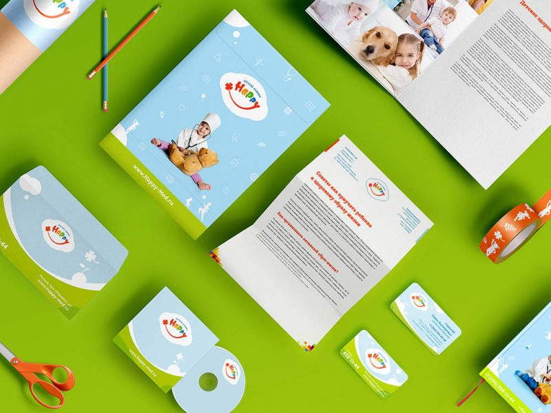 Kid's medical center logo design, Дизайн логотипа детского of the medical center