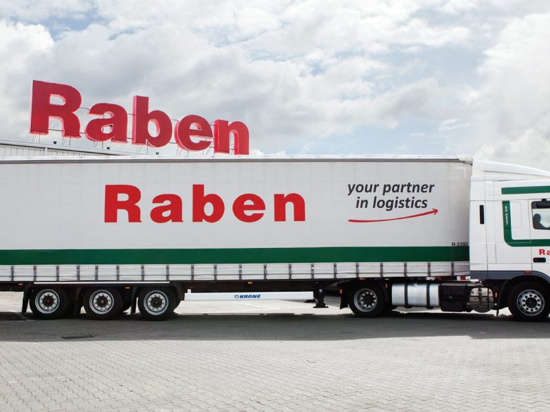 Дизайн of a logistics company «Raben»