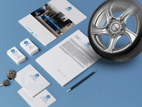 corporate identity of the car company