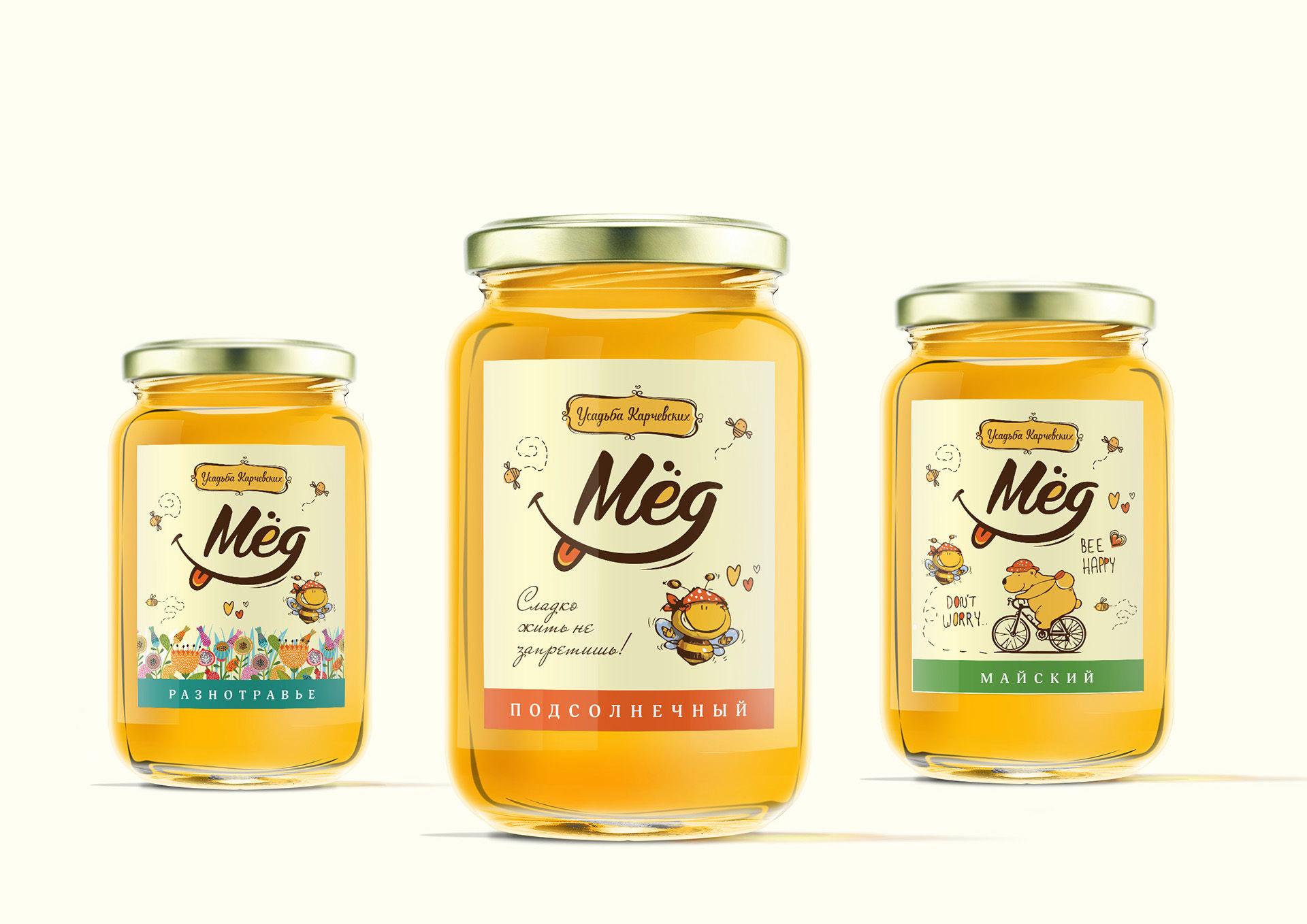 development этикетки and упаковки для меда