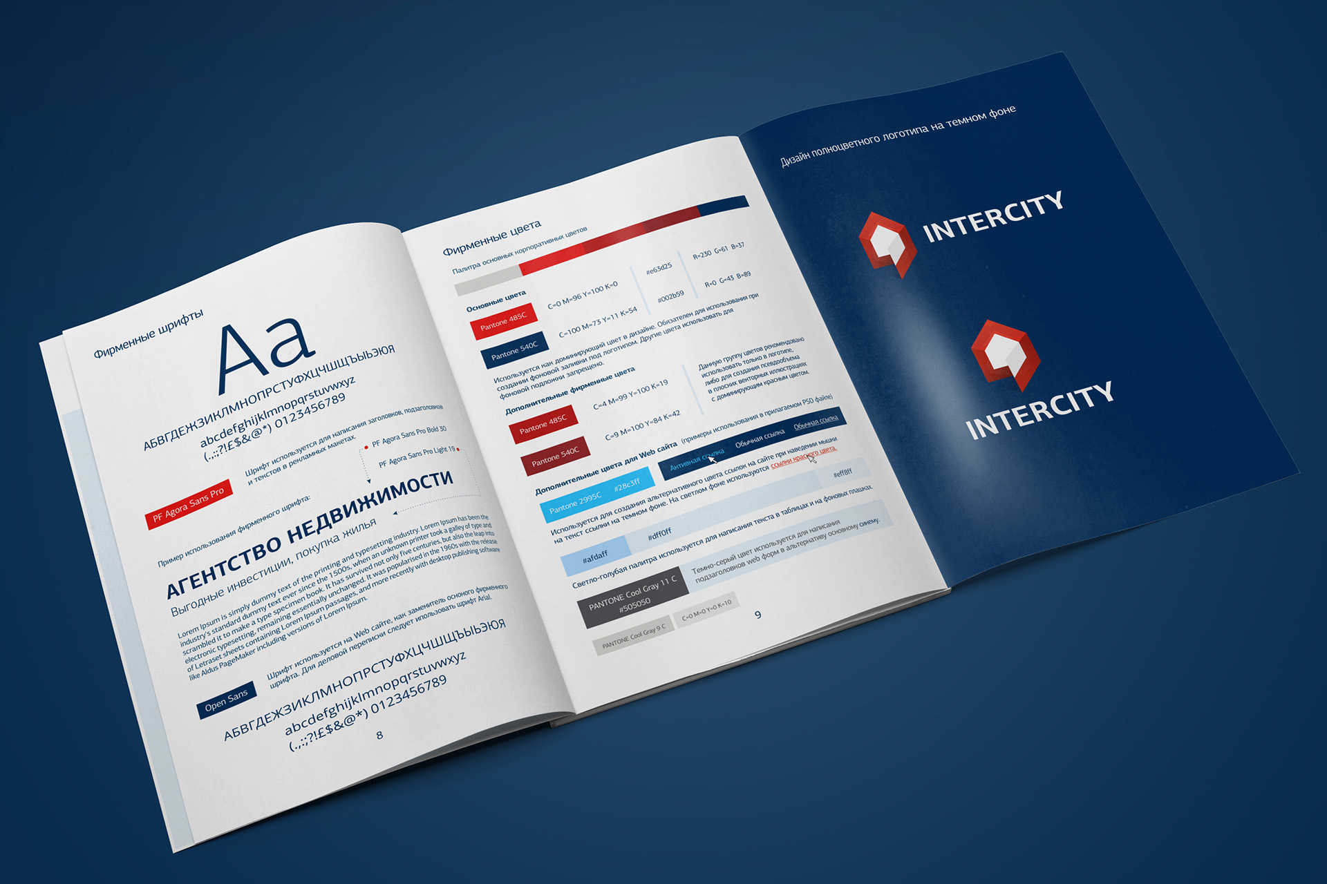 brand book агентства недвижимости, brand book, logo desing for real estate agency, polygraphy