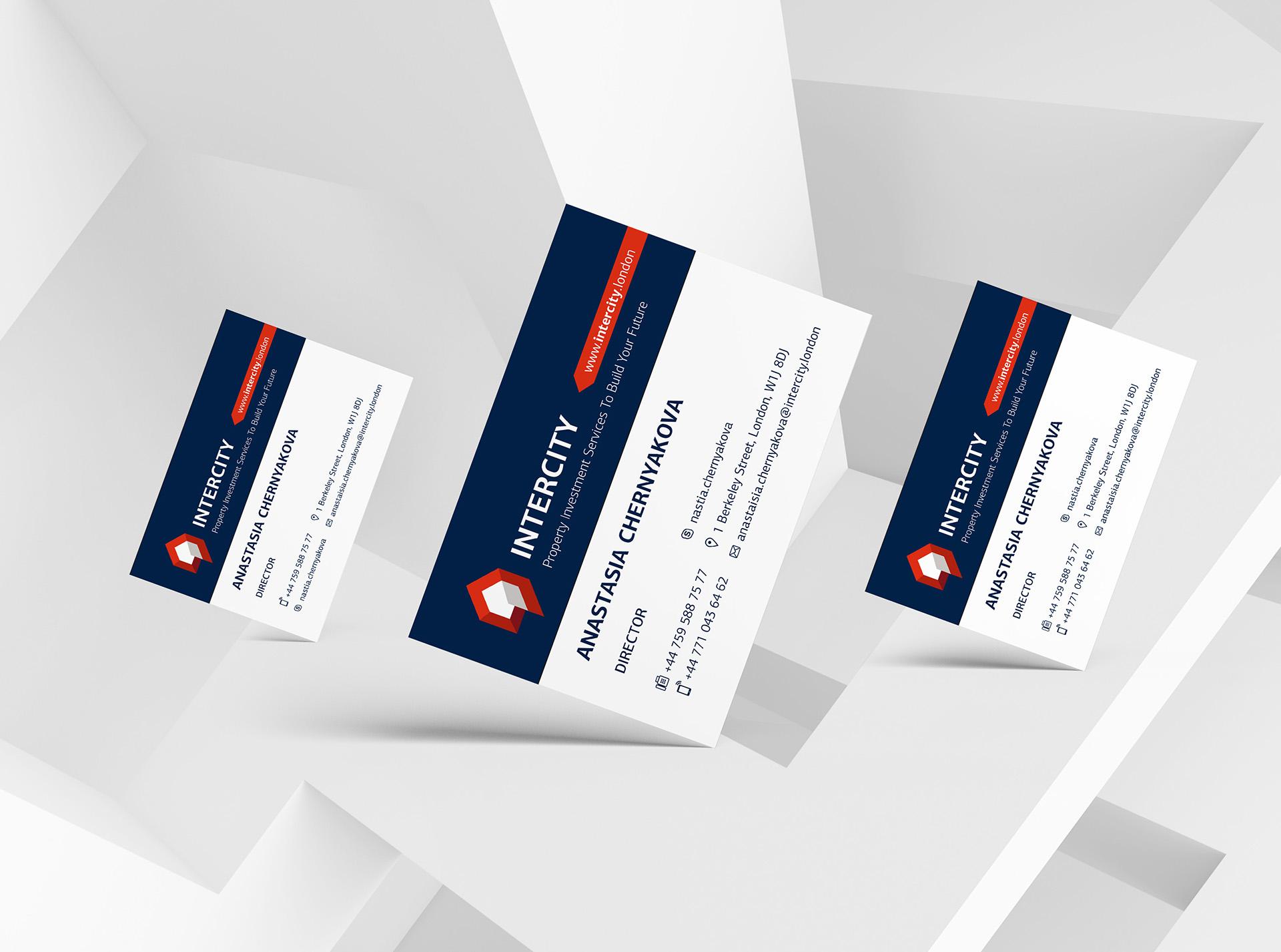 Визитная карточка агентства недвижимости Лондон