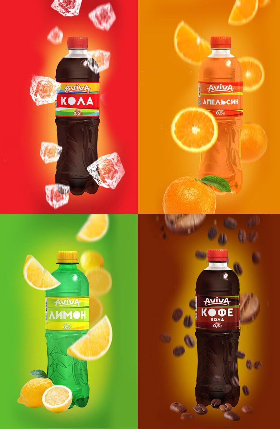 Soda label design, design этикетки для лимонада