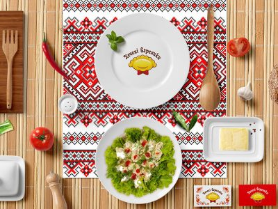 Сorporate identity фаст-фуд cafe, Fast food cafe corporate identity