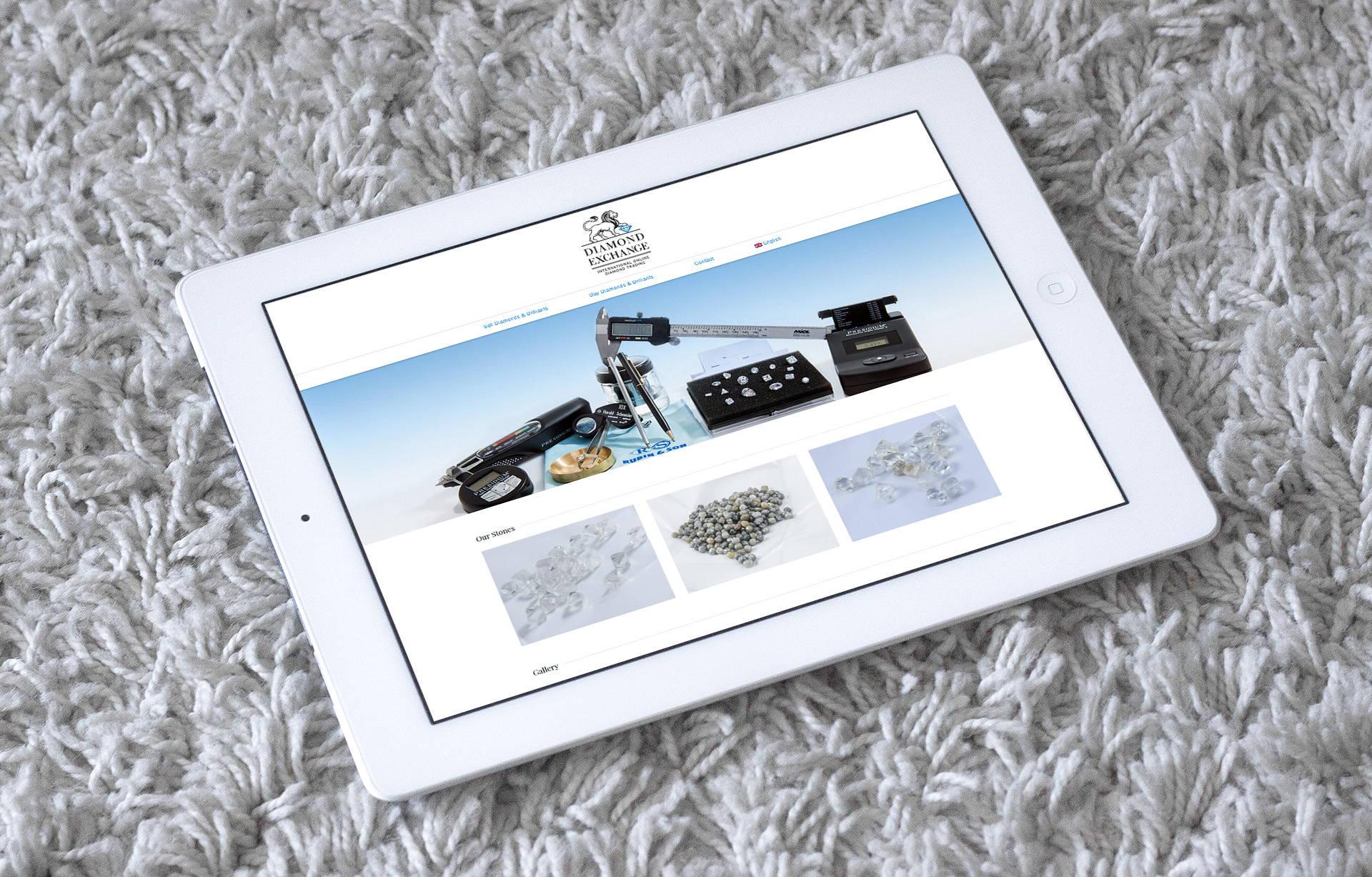 Дизайн of the website магазина драгоценных камней