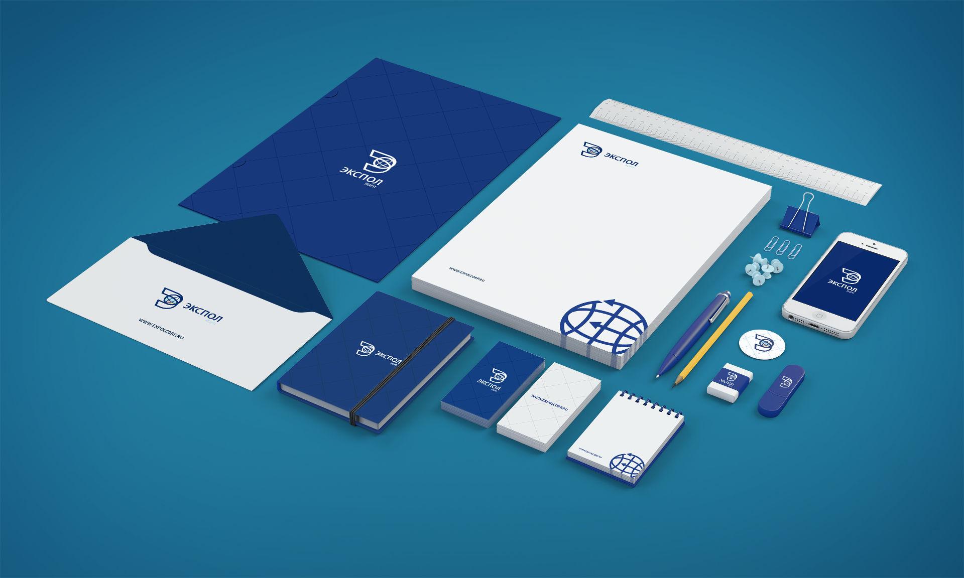 Дизайн of the corporate identity таможенной компании