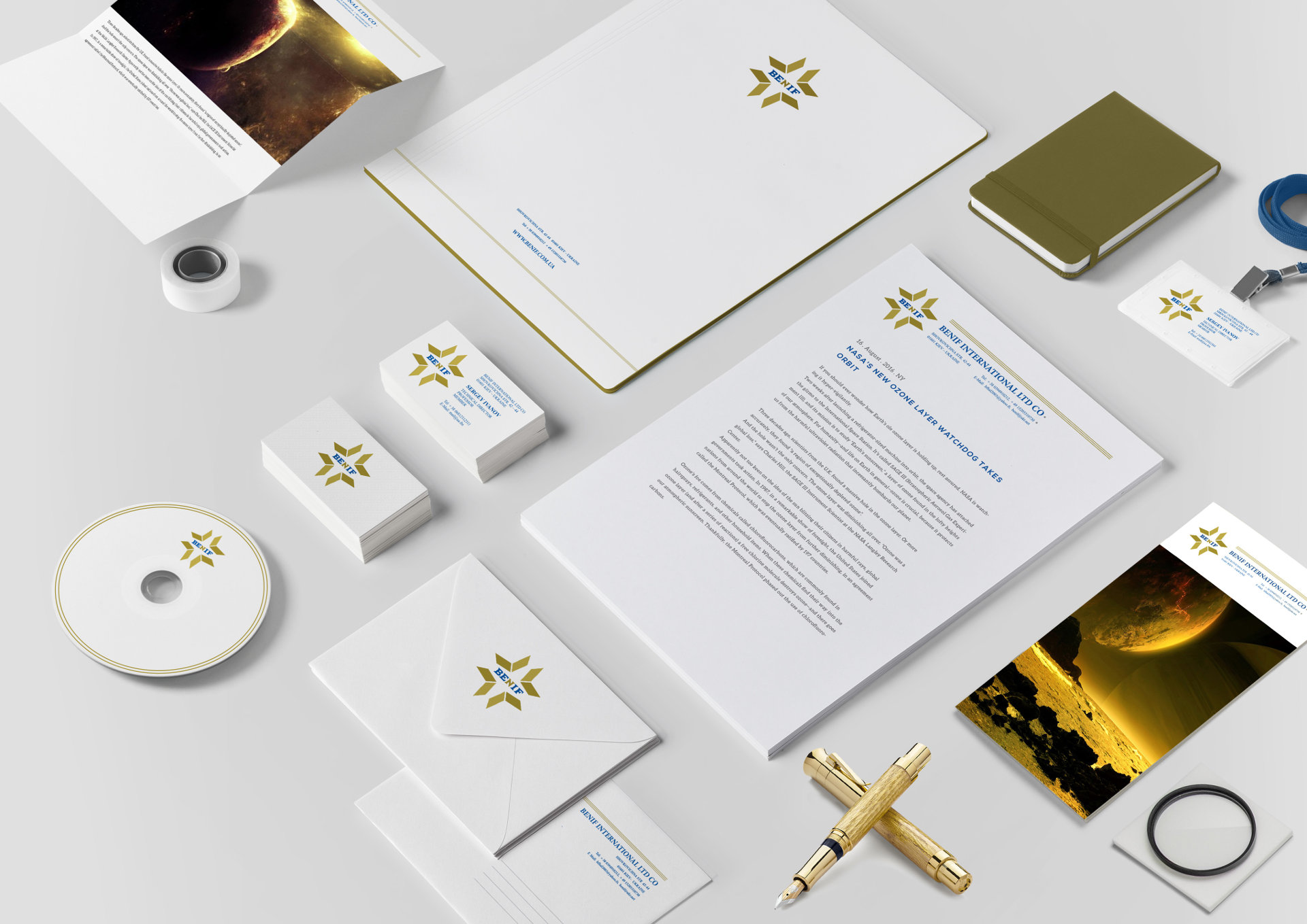 Design of the corporate identity of a geodetic company