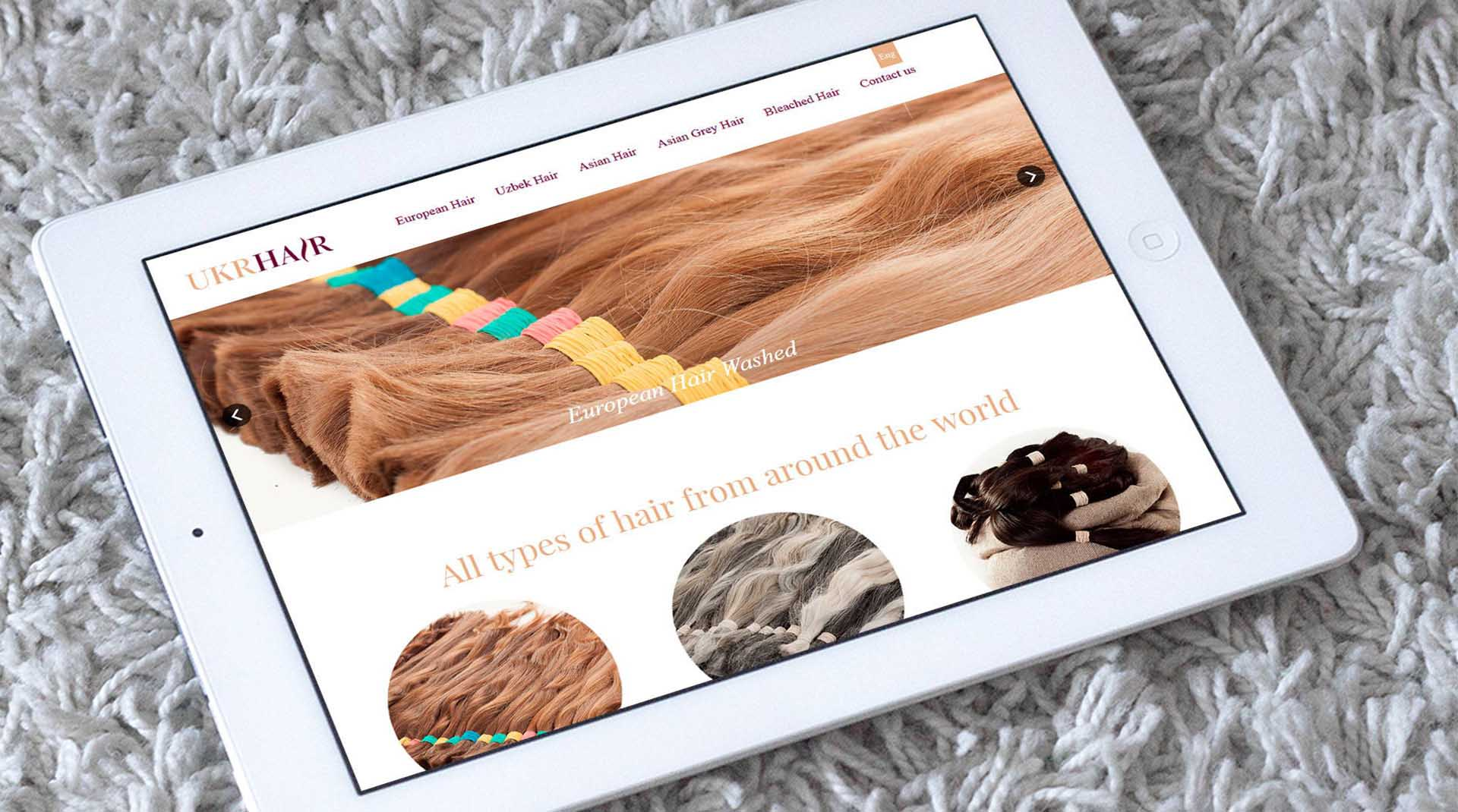 Дизайн of the website по продаже волос