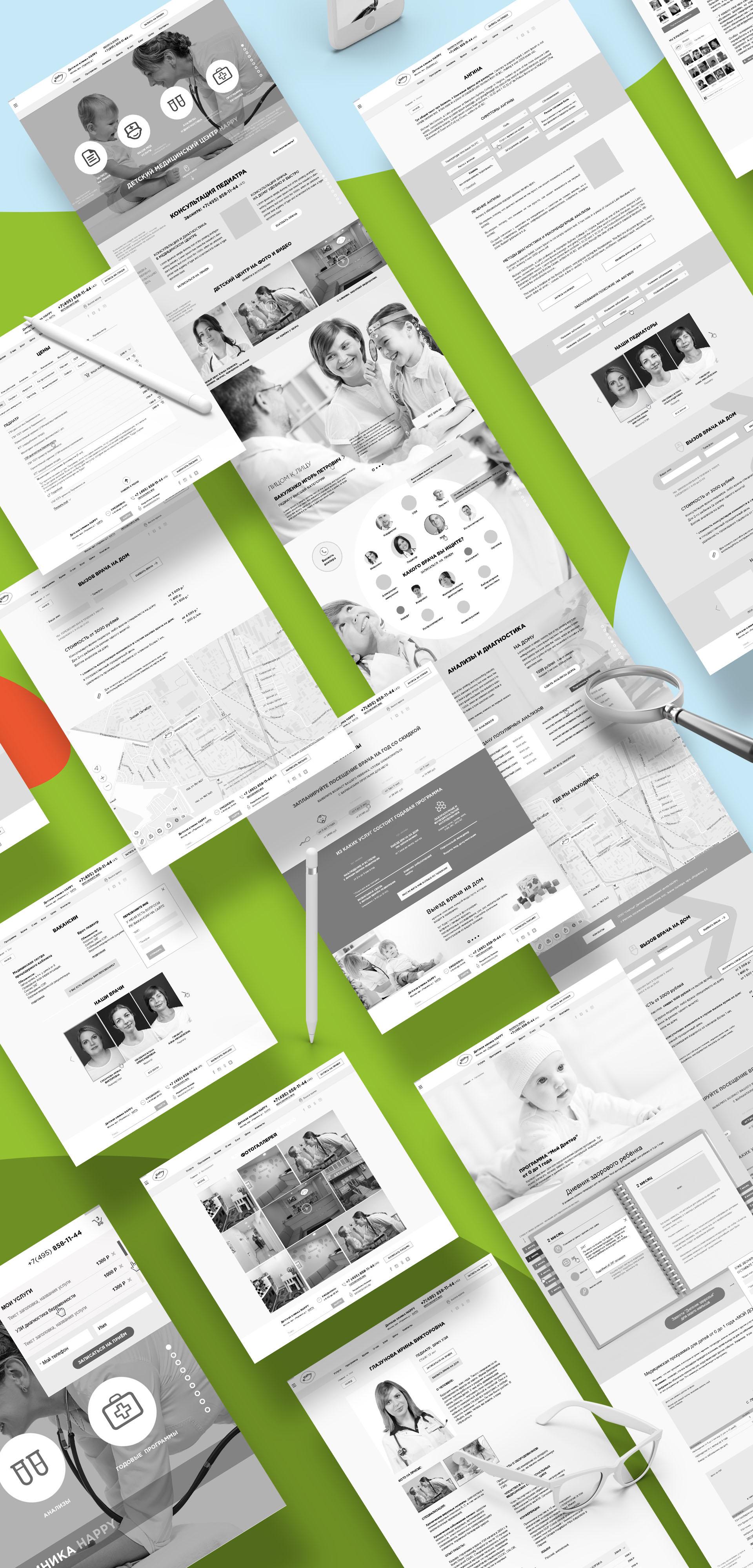 kids medical center site design