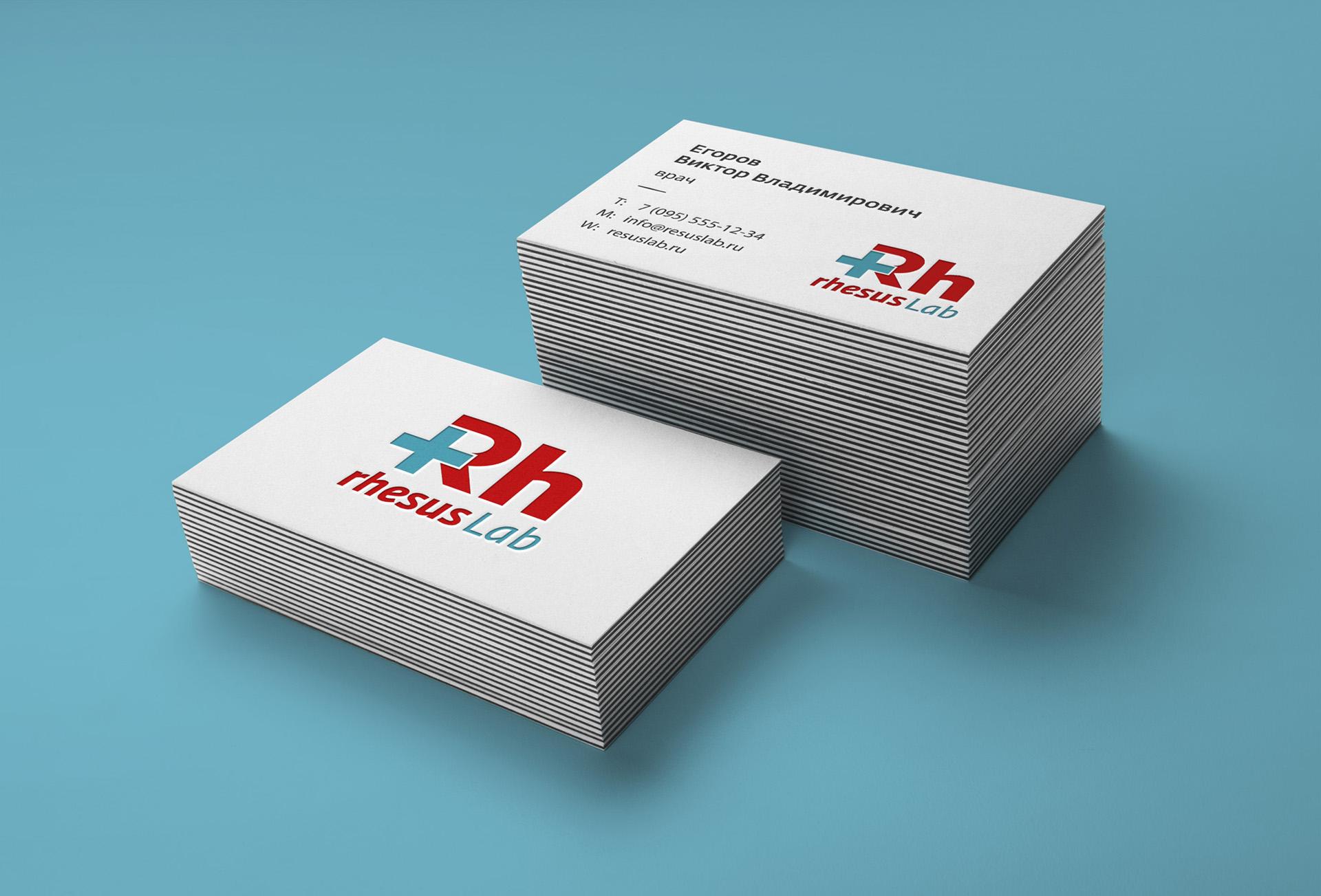 Resus Lab - лаборатория медицинских анализов, logo design