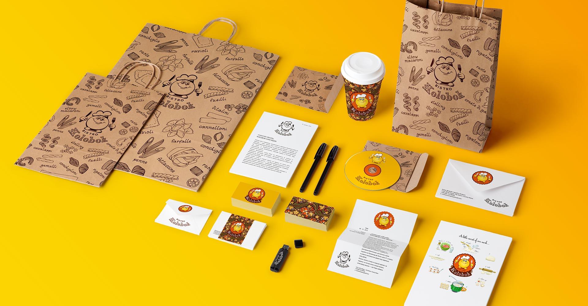 design для cafe, визитка, бланк, конверт