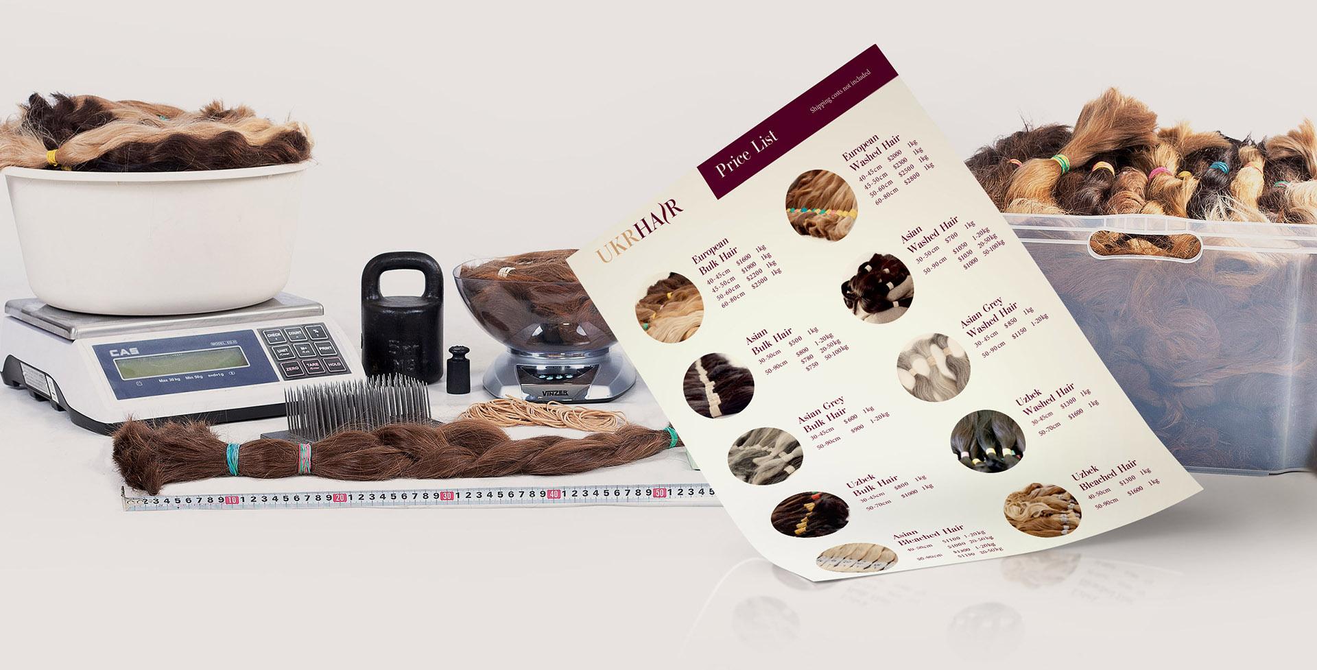 Development of the corporate identity of the company по продаже волос