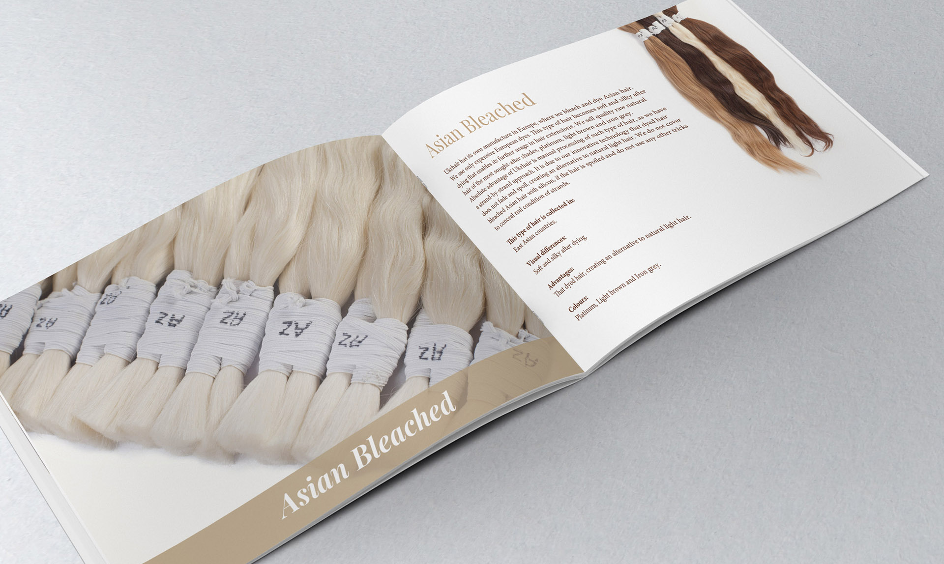 Development дизайна каталога для волос